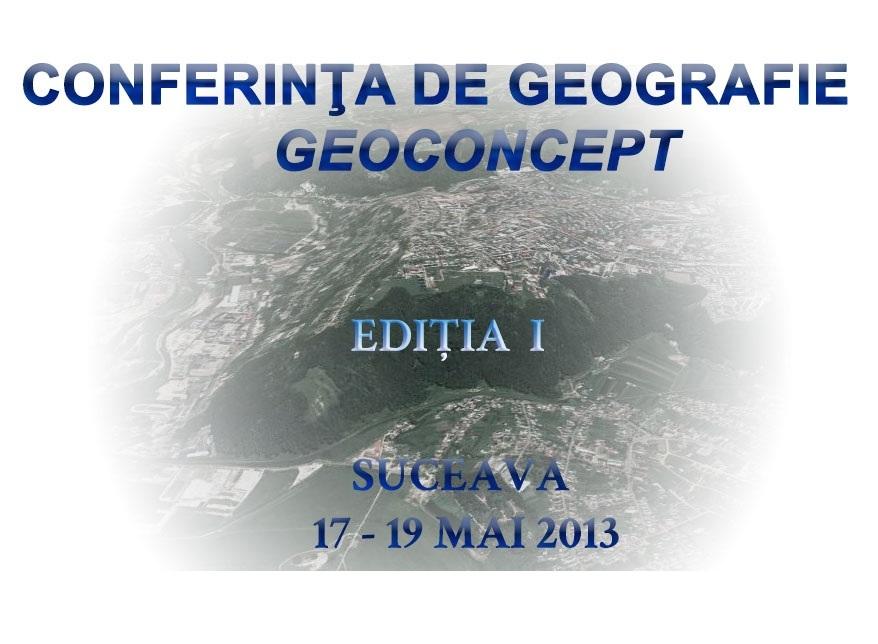 Conferința de Geografie GEOCONCEPT (CGG2013) - Prima ediție