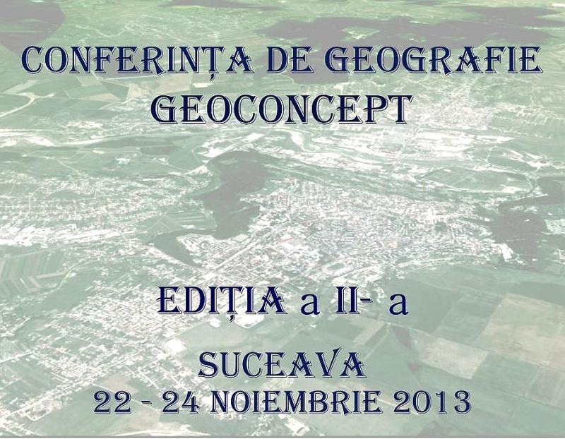Conferința de Geografie GEOCONCEPT (CGG2013) - A doua ediție