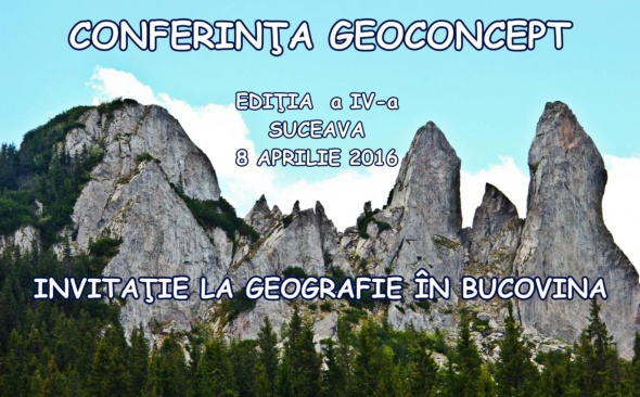 Conferința de Geografie GEOCONCEPT (CGG2016) - Ediţia a IV-a