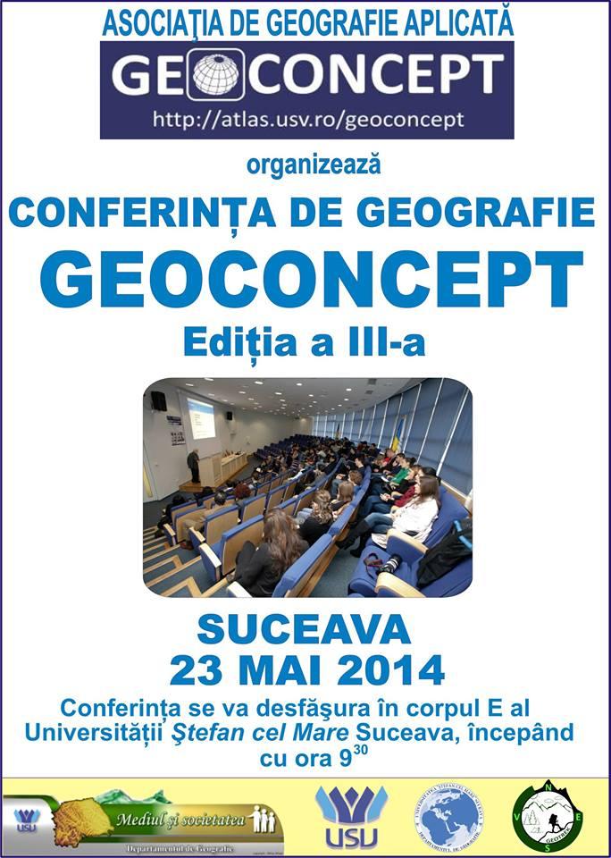 Conferința de Geografie GEOCONCEPT (CGG2013) - A treia ediție