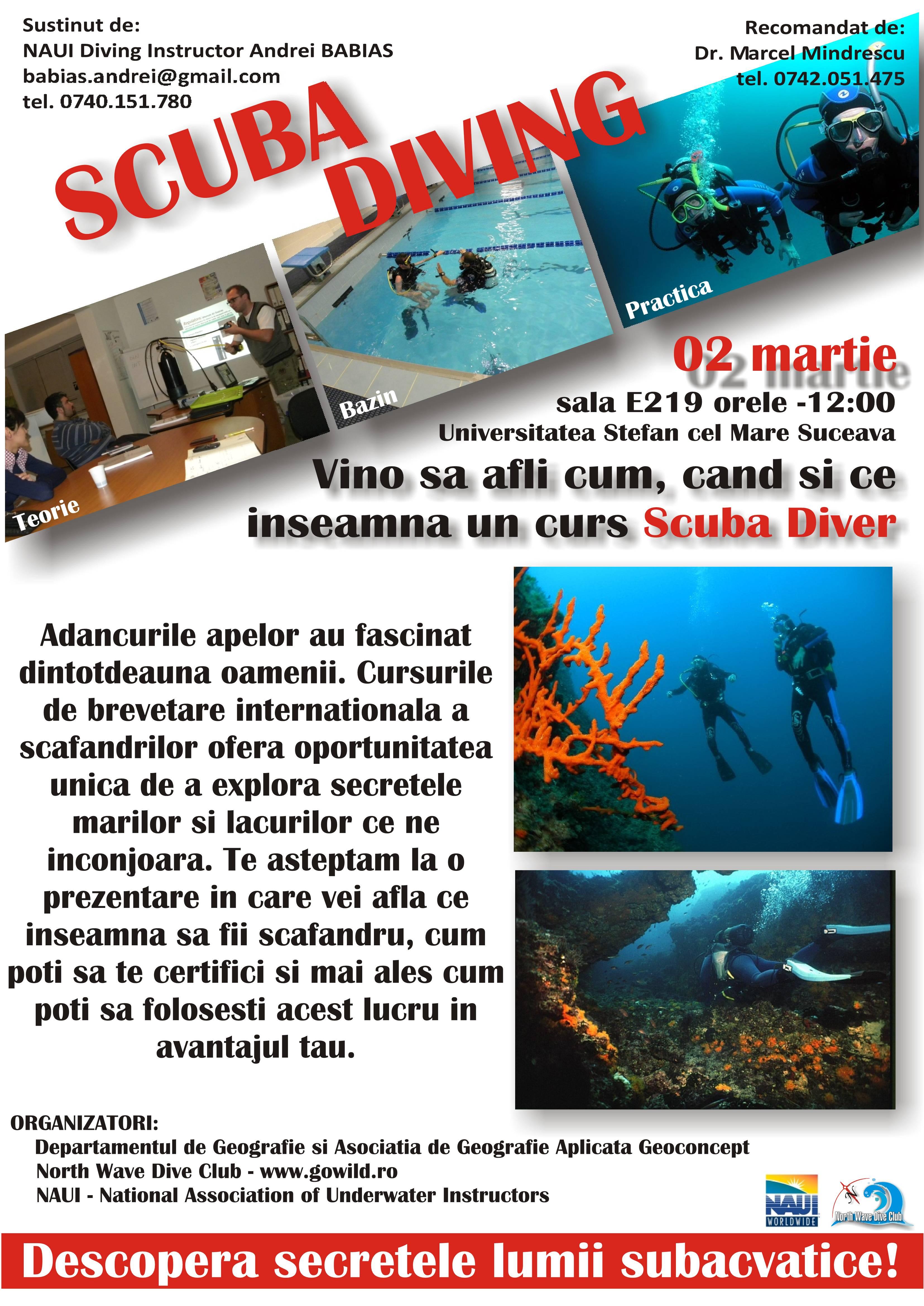 Descoperă secretele lumii subacvatice - Scuba Diving !